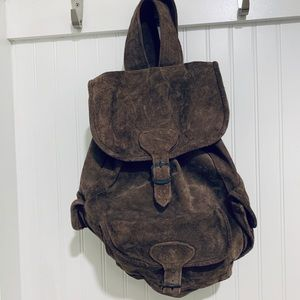 Urban Outfitters taupe soft suede Backpack